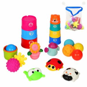 YMS 21Pcs Baby Bath Toy