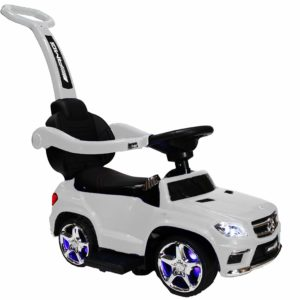 ZForce 4-in-1 Mercedes Stroller Ride-On Toy Push Car – White