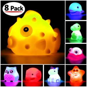 Bath Toys, 8 Pcs Light Up