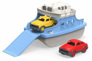 Green Toys Ferry Boat with Mini Cars Bathtub