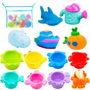 INNOCHEER Bath Toys and Stacking Cups for Toddlers