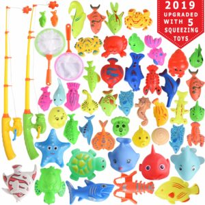 Max Fun 46 Pcs Magnetic Fishing Toys Game Set