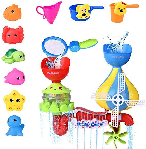11 PCs Toddler Bath Toys