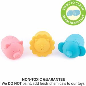 Giggles & Pebbles Silicone Pop-Squirt Bath Toy