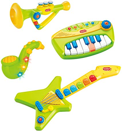 Liberty Imports 4-Piece Band Musical Toy Instruments Playset for Kids